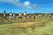 U16 cross country at Stromlo