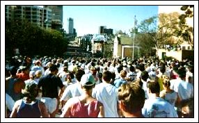 A photo of the 1994 start. Fantastic weather as always!